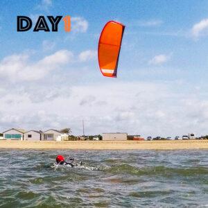 kitesurfing lessons day1